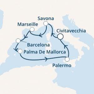 itinerario costa diadema